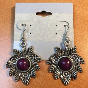 Jewelry - New Plum and Silver Earrings